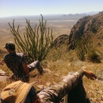 Quick break on New Mexico Ibex hunt