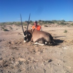 guided NM oryx hunter